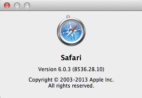 Safari 6.0.3