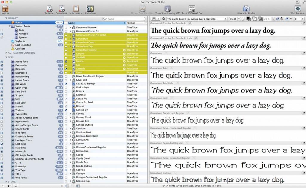 A look at Linotype FontExplorer X Pro 4.0
