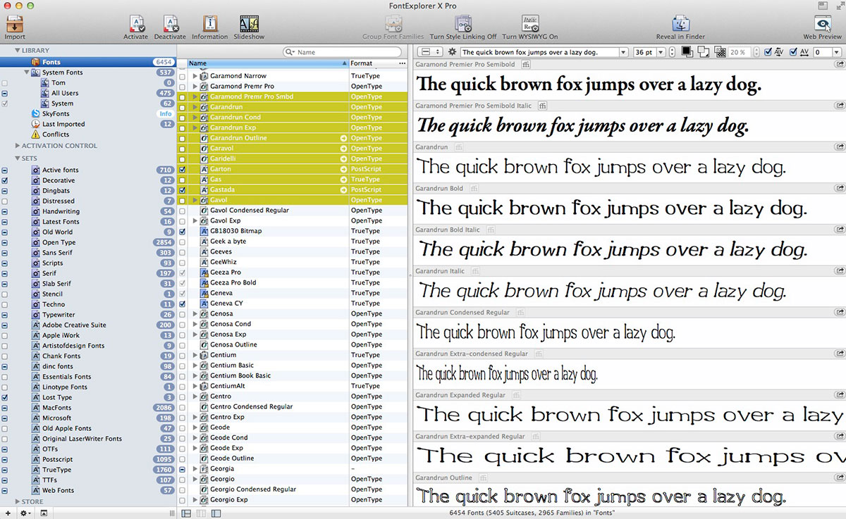 A look at Linotype FontExplorer X Pro 4.0